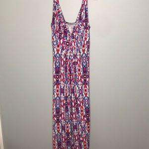 Loveappella multicolor maxi dress size medium